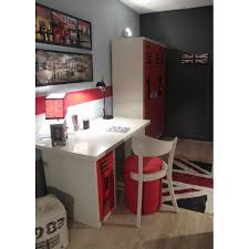 Locker Style Bedroom Furniture Kids Wardrobe In Worker Design Mathy By Bols Cuckooland