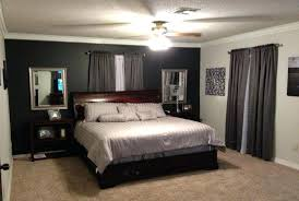 gray bedroom with blue accent wall. cool accent wall in bedroom grey black dark walls bedrooms blue gray with f