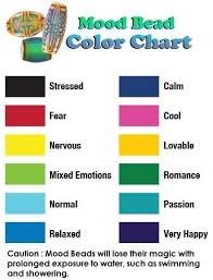 Mood Ring Emotions Chart Mood Bead Color Chart Mood Ring Meanings Mood Jewelry