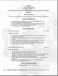 Resume Objective For Quality Inspector breakupus seductive LiveCareer  Professional Environmental Resume Samples Templates