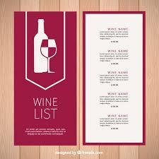 Free Wine List Template Download Modern Wine List Template Vector Free Download