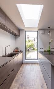 Modern kitchen extension | sleek design | framed garden views | floor to ceiling  window | flat rooflight | Modern Kitchens | Pinterest | Ceiling, ...