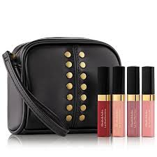 elizabeth arden mini lip gloss 5 piece set with cosmetic bag
