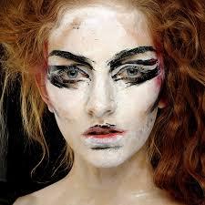model at vivienne westwood s s 2016 show wearing mac cosmetics photo mac