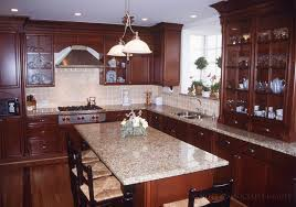 flagrant stained cherry wood kitchen cabinets as wells marble regarding cherry wood cabinets kitchen decorating
