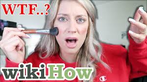 i followed a wikihow makeup tutorial bad idea