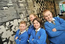 Pupils from Birchensale Middle School create huge piece of monochrome art  based on the work of M.C. Escher   Worcester News