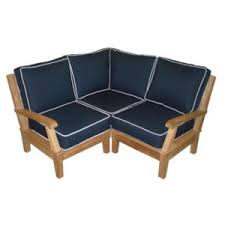 small space outdoor furniture. Royal Teak Miami Sectional Base Module-Corner And 2 Sides With Arms Small Space Outdoor Furniture E