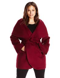 T Tahari Coat Size Chart T Tahari Womens Plus Size Marla Wool Blend Wrap Coat