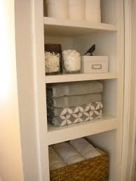 diy linen closet wicker