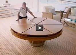 expandable round dining table modern. for a fantastic design and space saving idea, check out the fletcher capstan table. expansion video is very cool. however, this cool table comes with expandable round dining modern c