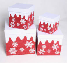 Gift Box Design Hot Item Christmas Gift Packaging Box With Simple And Elegant Snowflak Design