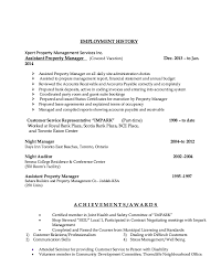 Assistant Property Manager Resume Example Http Resumesdesign Com