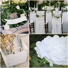 White Paper Flower Garland Paper Wedding Decorations Unbelievable Bells Tissuelowers How To