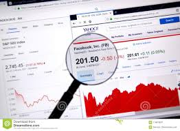Uso Chart Yahoo Facebook Fb Ticker With Charts Editorial Photography Image