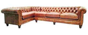 camel leather ottoman sectional living room designer style chesterfield tufted color home improvement cast 2018