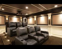 exterior: Stupendous Room With Black Sofa On Motive Carpet Under Lighting  On Interesting Ceiling Plus