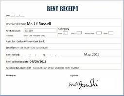 receipt for rent rent receipt templates for ms word excel receipt templates