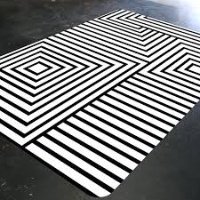 black and white rug black and white striped rug target
