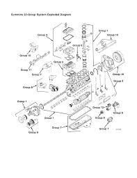engine cummins motor diesel n14 cummins 22 group system exploded diagram 4