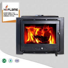hiflame over 20kw extra large cast iron fireplace insert with steel hf577iu7