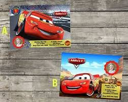 Car Birthday Invitations Details About Personalized Disneys Cars Birthday Invitation Digital File 5x7 Diy