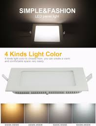 Kitchen Night Lights Cnhidee 12w Panel Lamp Square Ceiling Led Emergency Light Living