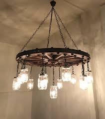 diy mason jar chandelier best of wagon wheel chandelier with mason jar lanterns handmade mason jar