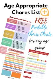 Complete List Of Age Appropriate Chores For Kids With