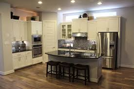 Staining Kitchen Cabinets Darker Stained Kitchen Cabinets Standard Eased Edge White Granite