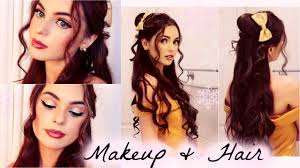 belle s hair and makeup tutorial disney s beauty