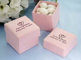 Wedding Favors Ideas, Wedding Favor Box Small Pink Adorable Paper Box Withh  Almond Instantly Change