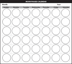 Phases Of The Moon Chart For Kids The Moon Mensa For Kids