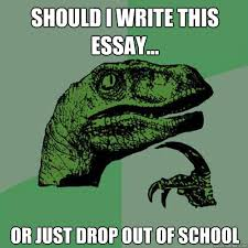 philosoraptor memes quickmeme should i write this essay or just drop out of school