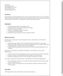 Resume Templates: Direct Sales Representative