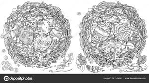 イースターの卵と鳥の巣 ストックベクター Imhopeyandexru 161745656