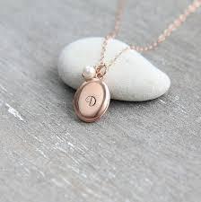 personalized locket necklace initial locket necklace rose gold locket monogram locket pendant rose gold necklace bridesmaid necklace