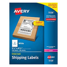 avery sheet labels avery shipping address labels laser printers 200 labels half sheet labels permanent adhesive trueblock 5126 white
