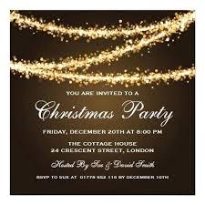 Elegant Party Gold String Lights Card Company Christmas Invitation