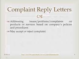 Formal Complaints Letter Template Business Within Complaint