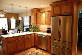 light brown cabinets kitchen interior with ideas white countertops