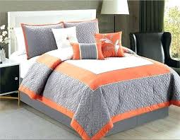 orange bedding sets incredible as bed no brilliant and grey comforter along set twin