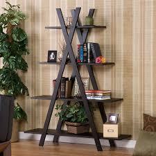 Living Room Bookshelf Modern X Shaped Bookshelf For Your Living Room And Office