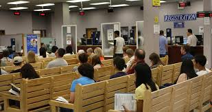 a line at a watertown rmv in 2010