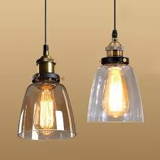 Vintage Pendant Lighting Us 20 67 21 Off Vintage Pendant Lights American Amber Glass Pendant Lamp E27 Edison Light Bulb Dining Room Kitchen Home Decor Planetarium Lamp In