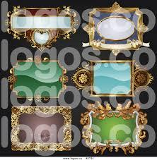antique frame designs. Modren Frame Royalty Free Collage Of Antique Ornate Frame Designs On Black Logo To