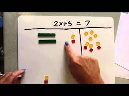solving multi step equations using algebra tiles part 1 2