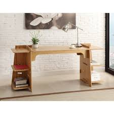 home office workspace wooden furniture. Furniture, 34 Pictures Of Cool Table Designs: Creative And Comfy Minimalist Home Office Design With Chrome Desk Lamp Also 2 Tier Book Shelves Ideas Workspace Wooden Furniture M