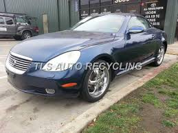 parting out 2002 lexus sc 430 stock 4002bk tls auto recycling 2002 lexus sc 430 parts stock 4002bk