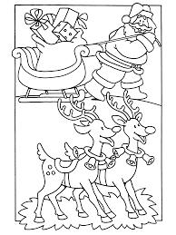 Kleurplaten Paradijs Kleurplaat De Kerstman Met Zijn Slee En Rendieren